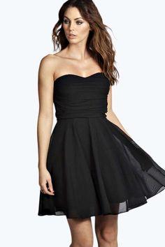 Jean Boutique Bandeau Chiffon Prom Dress