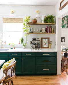 Choosing Green kitchen design ideas - Best of DIY Ideas Kitchen Design Color, Home Kitchens, Rustic Kitchen, Diy Kitchen Renovation, Kitchen Design, Dark Green Kitchen, Kitchen Inspirations, Kitchen Renovation, Home Decor Kitchen