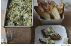 Spinach Artichoke Dip - lightened up