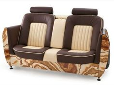 Interior, Carsofa, A Stunning Furniture For Car Lover: Beige Leather Car Sofa