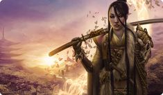 RPG Female Character Portraits — Untamed by Steve Argyle Fantasy Character Design, Character Concept, Character Inspiration, Character Art, Character Ideas, Fantasy Inspiration, Concept Art, Samurai Girl, Female Samurai