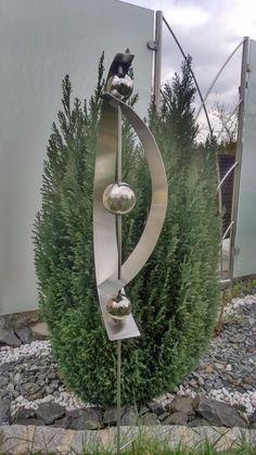 Gartenstecker Edelstahlstele Edelstahl 1,2 M Gartendeko Edelstahldeko  Stecker