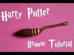 Tutorial on how to make a Nimbus 2000 out of Fimo. Great gift idea for someone who loves Harry Potter. Could be used for a necklace charm or Christmas tree ornament.