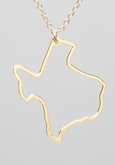 Texas Necklace in Gold at Revolve Clothing