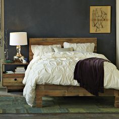 West Elm's Emmerson bedroom collection made with natural reclaimed pine.