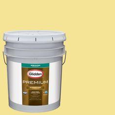 Glidden Premium 5-gal. #HDGG03 Meadow Flower Yellow Semi-Gloss Latex Exterior Paint