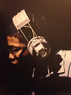 Herbie Hancock during the recording sessions of Bobby Hutcherson's Oblique, 21.07.1967