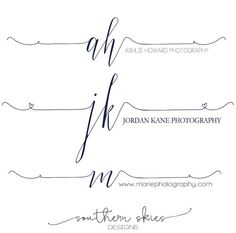 Fotografie-Logo Modernes Logo-Design von SouthernSkieDesign Source by Wedding Logos, Wedding Tattoos, Brand Identity Design, Branding Design, Corporate Branding, Calligraphy Logo, Lettering, Kids Initial Tattoos, Time Tattoos