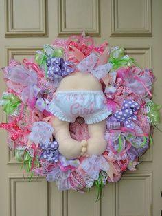Baby Girl Mesh Wreath Baby Bottom Girl Wreath Baby Girl