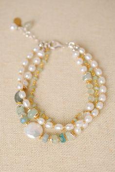 """Serenity 7.5-9.25"""""""" Pearl Multi strand Bracelet"""