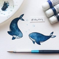Day 27: Blue whale friends showing off with a backflip ‍♀️ - - #illustration #illustrationoftheday #art #instaart #instaartist #sketch #sketchbook #drawing #drawingoftheday #paint #painting #watercolour #cute #whale #bluewhales #showoff #backflip #sealife #whalelove #ocean #wildanimals #animalfriends #alwayssmiling #bffs #practice #the100dayproject #100daysoffriendship #day27 #holbein #winsorandnewton