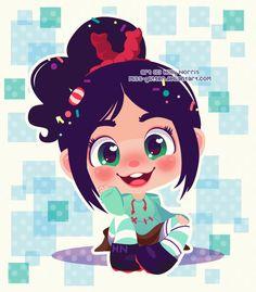Vanellope Von Schweetz by Miss-Glitter - Wreck-It Ralph Disney Animation, Disney Pixar, Disney Cartoons, Disney And Dreamworks, Disney Movies, Disney Characters, Disney Kunst, Arte Disney, Disney Fan Art