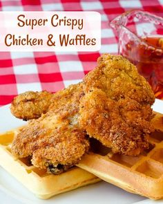 Extra Crispy Chicken and Waffles. This southern comfort food gets and extra crispy twist with the addition of panko crumbs to the perfectly seasoned crust.