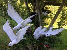 Kunstige duer, naturlige og dekorative. Se mere på dekolagersalg.dk