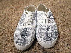 DIY Alice in Wonderland Sharpie Painted Vans Shoes |