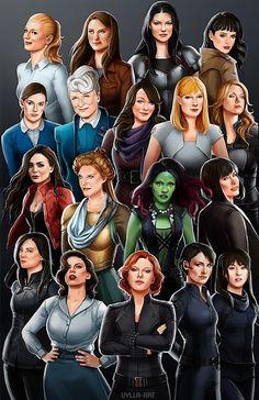 Galaxy Fantasy: Pósters de heroínas cinematograficas del Universo Marvel