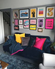 Room Colors, House Colors, Room Ideas Bedroom, Bedroom Decor, Living Room Designs, Living Room Decor, Colourful Living Room, Aesthetic Rooms, Home Interior Design