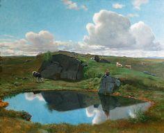 Christian Skredsvig (1854-1924): Vakkert på Norefjellet 1903 (1903)