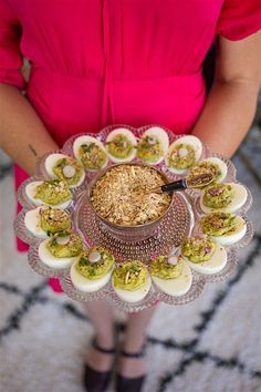 These irresistible avocado deviled eggs are use fresh, ripe avocado instead of mayonnaise. The Egyptian spice blend, dukkah gives them a nutty finish. avocado, avocado recipes, no mayo deviled eggs. Healthy Deviled Eggs, Avocado Deviled Eggs, Deviled Eggs Recipe, Ripe Avocado, Dairy Free Mexican Recipes, Healthy Mexican Recipes, Avocado Recipes, Bridal Shower Menu, Bridal Shower Rustic