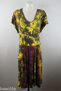 Size XL 16 Ladies Dress Casual TIE DYE Gypsy Hippie Boho Beach Stretch Design   eBay