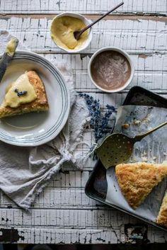 Local Milk | Cornmeal Brown Butter Scones & Lavender Peach Curd by deann