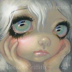 Fairy Face 195 Jasmine Becket Griffith Big Eye Faerie Goth Signed 6x6 Print   eBay