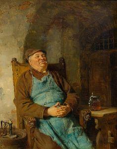 Eduard Grützner Zigarre rauchender Braumeister 1882