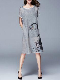 Hand made Cotton Linen Midi dress
