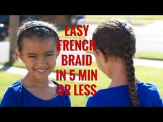 Curly Hairstyle of the Week: Easy French Braid in 5 Minutes or Less | Weather Anchor Mama