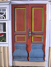 Decorative doors. Toholampi, Central Ostrobothnia province of Western Finland - Keski-Pohjanmaa