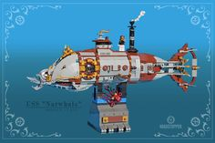 "LEGO Steampunk Submarine ""The Narwhale"" by ""Madstopper"""