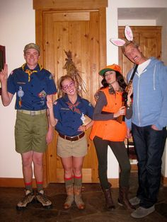 boy scouts and rabbit/hunter couples costumes