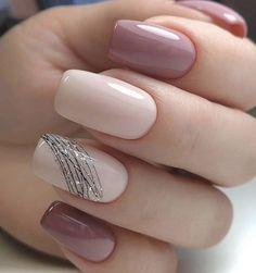 130 beautiful acrylic short square nails design for french manicure nails 3 Manicure Nail Designs, French Manicure Nails, Nail Art Designs, Gel Nails, Nail Polish, Nails Design, Coffin Nails, Glitter Nails, Nail Nail