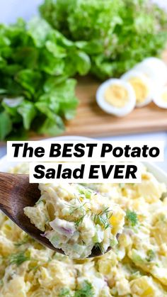 Best Egg Salad Recipe, Potato Salad Recipe Easy, Best Salad Recipes, Healthy Recipes, Recipe For Macaroni Salad, Potato Egg Salad, Best Potatoe Salad, Orzo Recipes, Ham Recipes