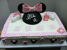 Baby Minnie baby shower #luckytreats