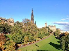 Beautiful autumnal scene in Edinburgh