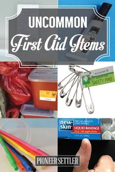 Use these uncommon first aid items in case your handy dandy first aid kit is nowhere in sight. You'll be prepared for any emergency! Prep For Emergencies With These Uncommon First Aid Items H… First Aid Kit Checklist, Diy First Aid Kit, First Aid Tips, Camping First Aid Kit, Emergency First Aid, Emergency Preparation, In Case Of Emergency, Disaster Preparedness, Survival Prepping