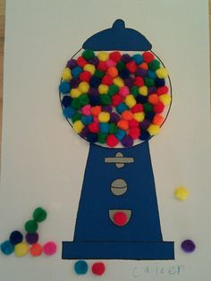 100 Days of School project. Give classmates each little bag of candy skittles, runts, gum balls, etc.