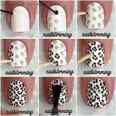 Easy leopard spots with dotting tool( or bobby pin)!!