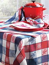 Lobster Pot Tablecloth, Placemats & Napkins | LinenSource
