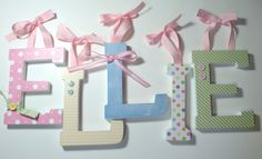 Wooden Letters to put in the babies room