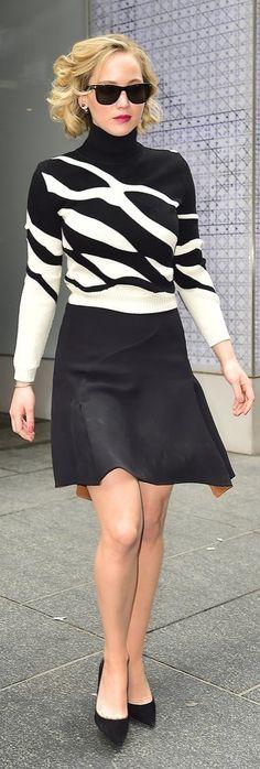 Jennifer Lawrence in a Dior Set at the Serena Press Junket