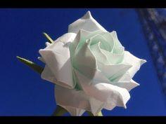 Part1/3 : How to fold Naomiki Sato Origami Rose (Pentagon Rose) 佐藤直幹 摺紙玫瑰教學 - YouTube