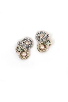 off-white : Desiree Bridal Clip On Earrings
