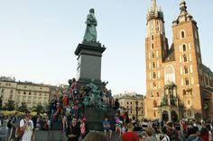 The Main Square of Krakow, Poland