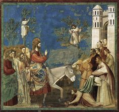 Giotto: No. 26 Scenes from the Life of Christ: 10. Entry into Jerusalem 1304-06 Fresco, 200 x 185 cm Cappella Scrovegni (Arena Chapel), Padua