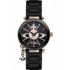 Vivienne Westwood Ladies Black Kensington Watch