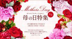 母の日特集 mother's day 5/11