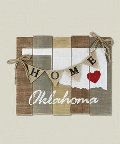 Loving this 'Oklahoma' Wood Slat Board on #zulily! #zulilyfinds