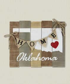 Loving this 'Oklahoma' Wood Slat Board on #zulily! #zulilyfinds